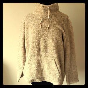Shepra fleece pullover sweater jacket L